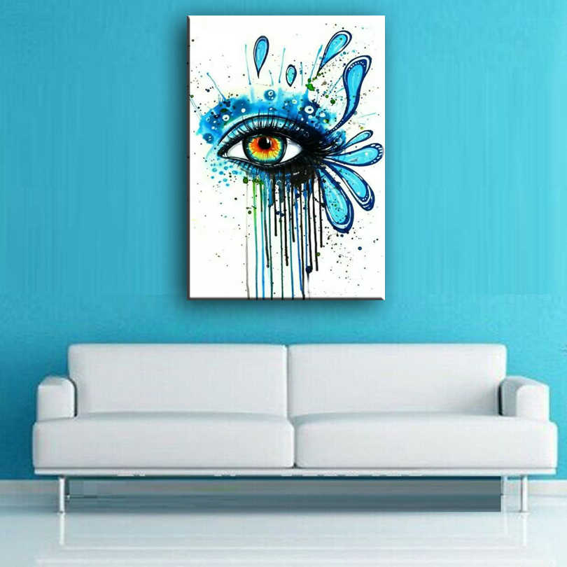 oil painting hand-painted canvas Eyes close-up picture high quality Household adornment art Eyes abstract painting 168018