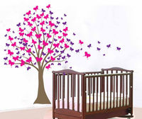 Baby Girl Nursery Tree Wall Sticker Large Tree Vinyl Wall Decals Kids Room DIY Tree Sticker
