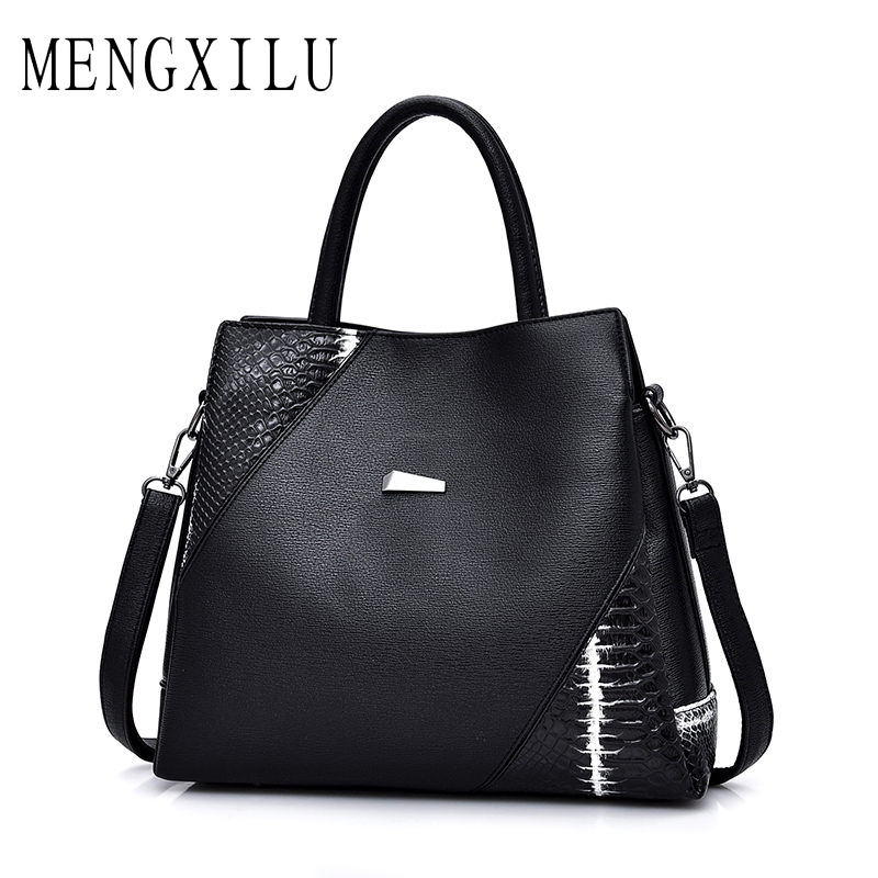 MENGXILU Big Casual Totes Bags Handbags Women Famous Brand Designer High Quality Leather Shoulder Bag Ladies Sac A Main 2018