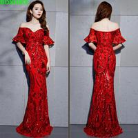 2018 Hot Sale Empire Autumn Plus Size Vadim The New Model Is Slim, Elegant, Annual Party, Night Club, Party Dress, Long Dress.