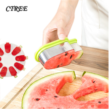 CTREE 1Pc DIY Watermelon Slicer Stainless Steel Knives Fruit Plate Popsicle Ice Cream Model Kitchen Melon Gadget C278
