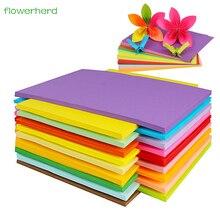 70 230gsm 100 قطعة A4 ورق الكرافت الملونة DIY بها بنفسك اليدوية بطاقة صنع ورق الحرف ورق نسخ عالية الجودة سميكة الورق المقوى