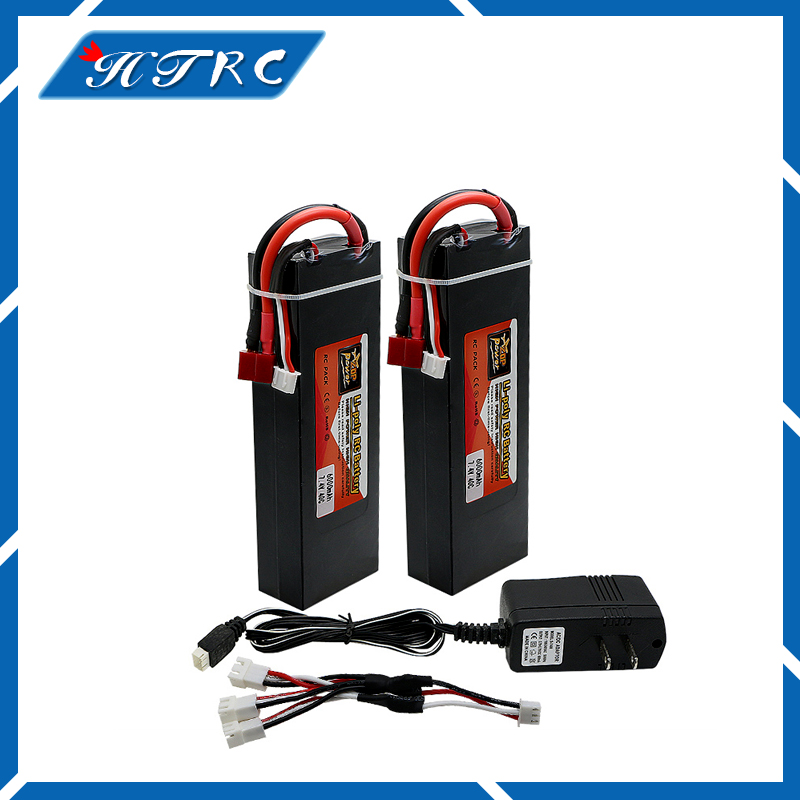 2pcs  RC Lipo Battery 6000mah 7.4V 2S Max 40C Li-polymer battery Hard Case Banana Connector for RC helicopter Truck wild scorpion rc 18 5v 5500mah 35c li polymer lipo battery helicopter free shipping
