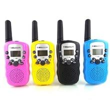 2Pcs Child Kids Toy Walkie Talkie Parenting Game Mobile Phone Telephone Talking 1-2KM Range For