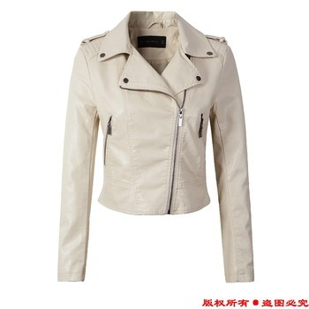 Leather Jacket Women Winter And Autumn New Fashion Coat 4 Color Zipper Outerwear jacket 3
