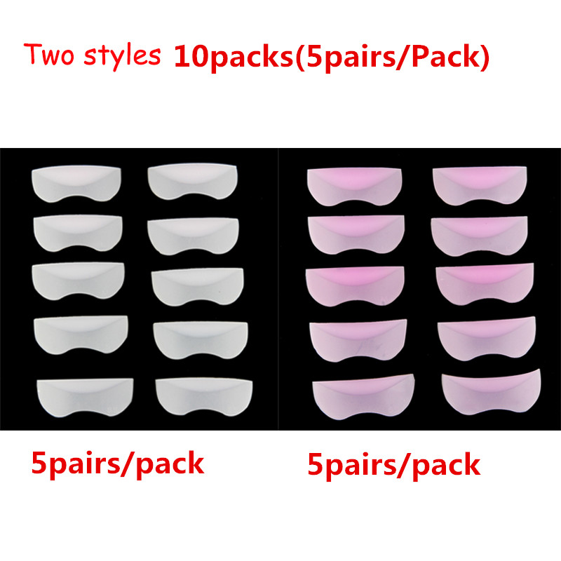 10Packs 3D Pro Silicone Eyelash Perming Curler Curling Root Lifting Make Up Tools False Fake Eye Lashes Extension Shield Pads