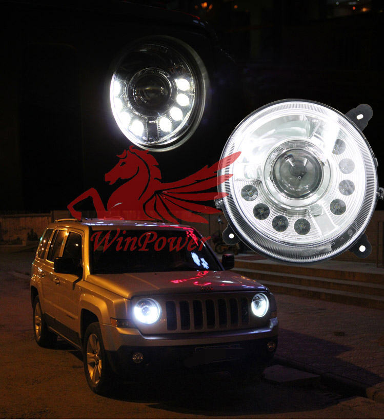 For 2011 2015 Jeep Patriot Led Headlight With LED Strip
