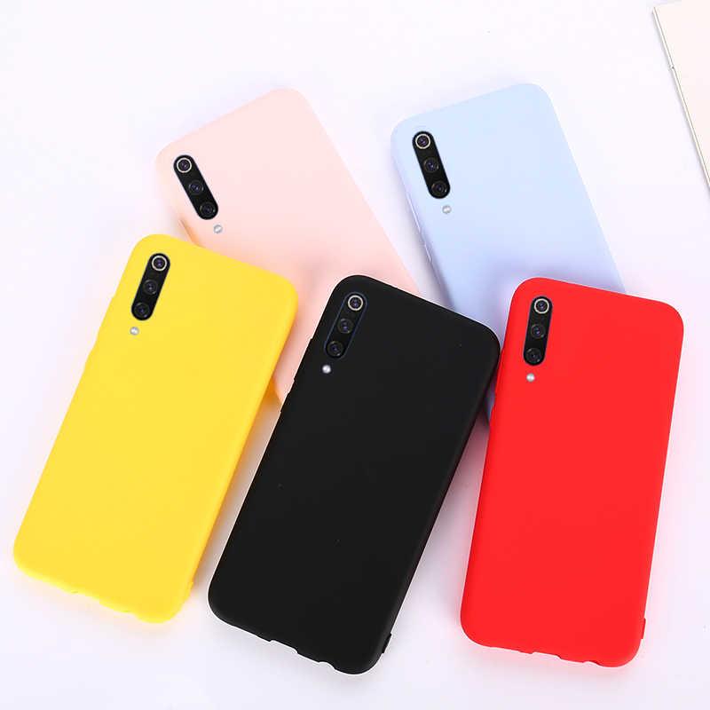 Dla Xiao mi mi 9 8 SE A1 A2 Lite grać czerwony mi 6A uwaga 7 6 5 Plus Pro S2 Go cukierki kolor matowy miękki TPU silikonowe etui na telefon