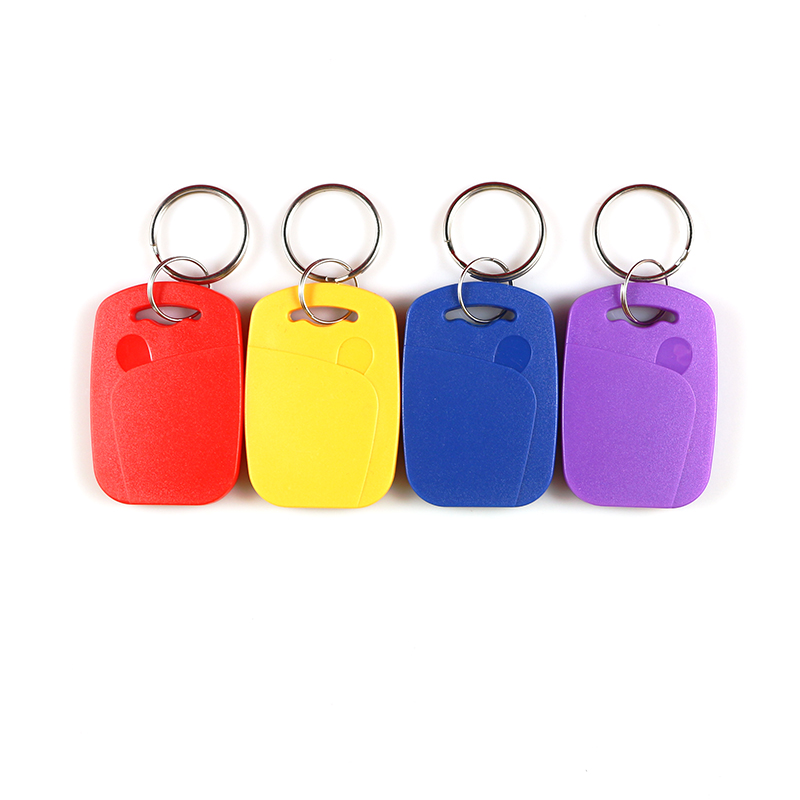 10pcs Double Frequency IC+ID UID Rewritable Composite Key Tags Keyfob (125KHZ EM5200 RFID+13.56MHZ UID Changeable