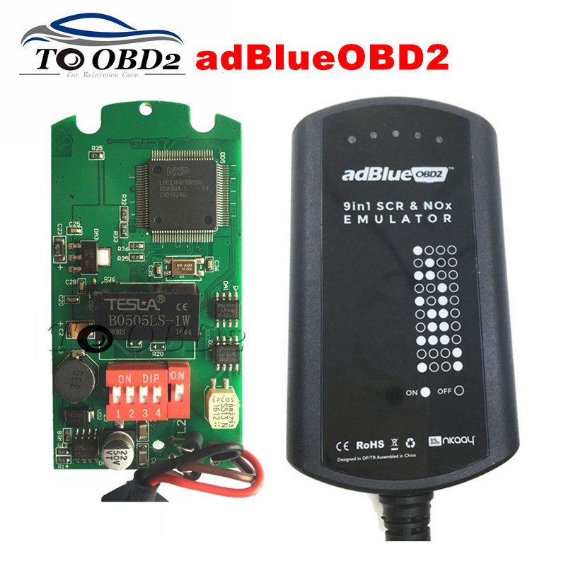 Newly Sale Adblue 9 IN 1 Works 9 Brand Trucks Diagnostic Interface Ad-Blue Supports EURO 4&5 Ad Blue Emulation Add For CUMMINS