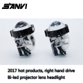 2017 Free Ship SANVI Bi-LED Projector Lens Headlight 6000K 35W RHD LED Headlight Car-styling Retrofit Kit Auto Lighting Autopart
