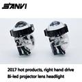 2017 Free Ship SANVI Bi-LED Projector Lens Headlight 6000K 35W RHD LED Headlight Car-styling Retrofit Kit Auto Lighting Autopart
