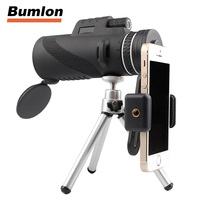 Outdoor Telescope HD 40x60 Monocular High Definition For Mobilephone Low Light Night Vision Handheld With Tripod