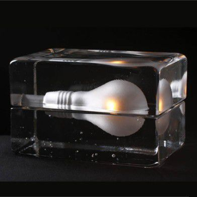 все цены на  Creative design ice block table lamp, Modern glass desk lamp G9*40W light Free shipping TL016  онлайн