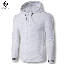 2017 M-5XL Large Size Spring Jackets and Coats Jaqueta Masculina Men's Casual Fashion Slim Fit Hooded Jackets Zipper Tracksuits