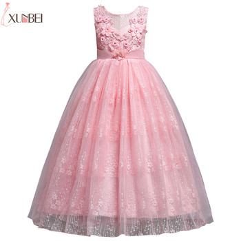 Beautiful Flower Girl Dresses Lace 2019 Appliqued Ball Gown Pageant Dresses For Girls First Communion Dresses Kids Prom Dresses beautiful flower girl dresses lace 2019 appliqued ball gown pageant dresses for girls first communion dresses kids prom dresses