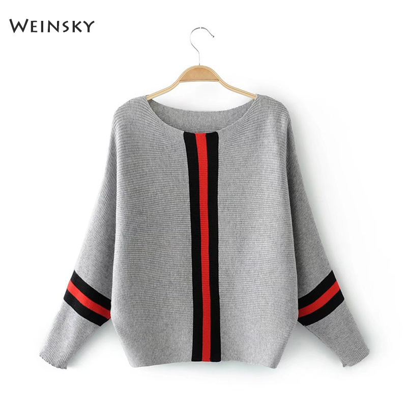 Weinsky Informal Type Girls Knitted Sweater And Pullovers Full Sleeve Girls Vogue Sweaters Feminine Winter And Autumn 2018