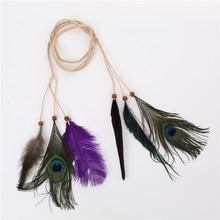 Beaded Peacock Feather Headwear