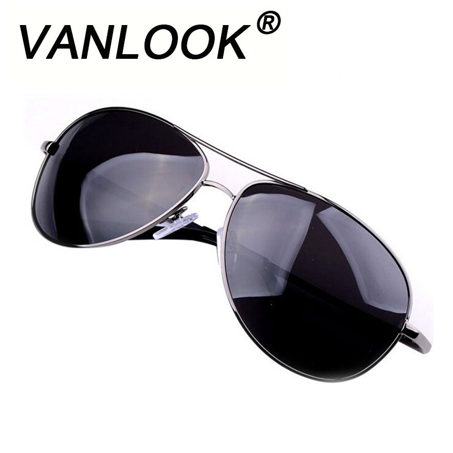 Polarized Mäns Solglasögon Märke Oculos Masculino Gunmetal Glasses Classic Metal Eyewear Sun Glasses for Men