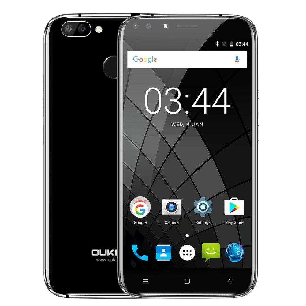 Original Oukitel U22 Android 7.0 Smartphone 2GB RAM+16GB ROM 2700mAh MTK6580A Quad Core 5.5'' Fingerprint 4 Cameras Smartphone