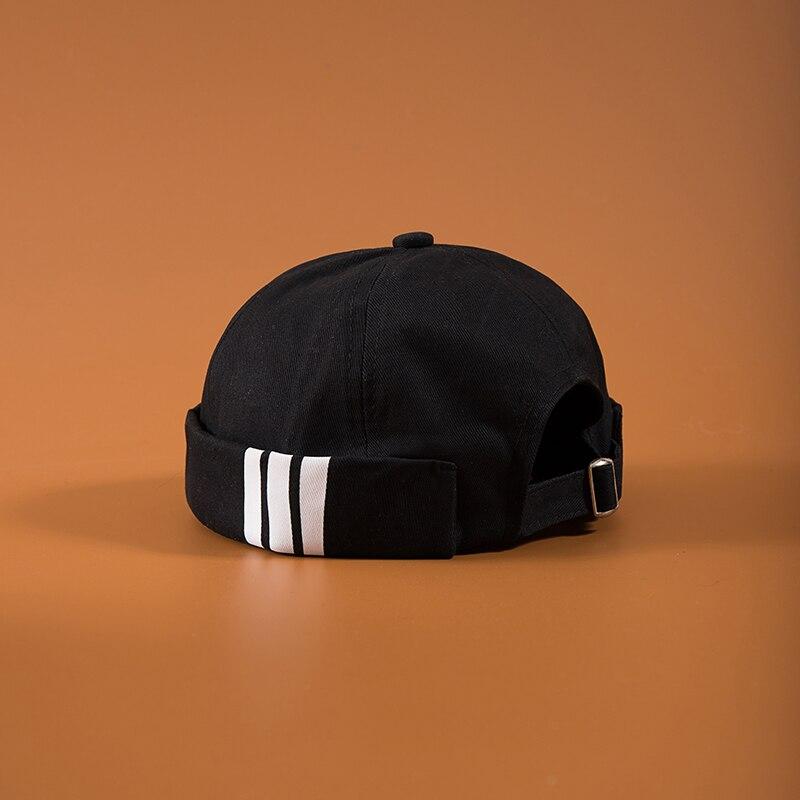 Men's Summer Cotton Brimless Skullies Cap Vintage Urban Unique Street Portable Docker Hats Multipurpose Miki Beanie Hat