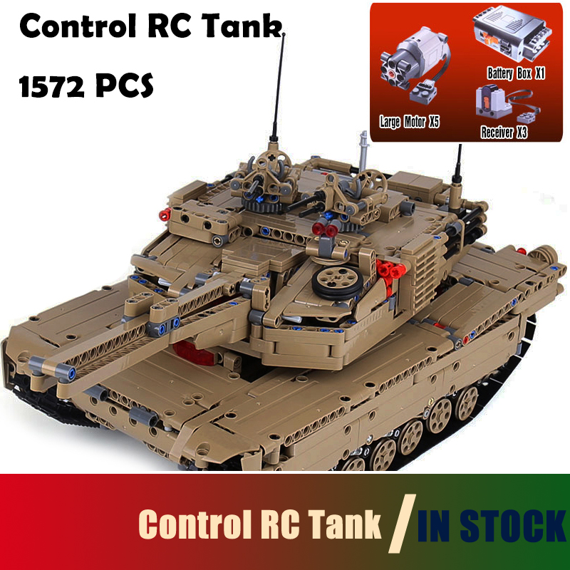 Compatible with lego Model Building Blocks toys 20070 1572Pcs MOC Technic Remote Control RC Tank Military War DIY toys & hobbies