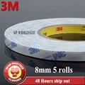 5x8mm de ancho * 50 Metros * 0.15mm 3 M 9448A blanco doble cara Cinta Adhesiva sticky para el teléfono Celular LCD Panel Caso de Bonos