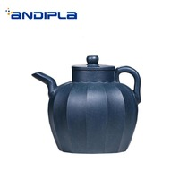 290ml Yixing Purple Clay Teapot Handmade Zisha Pot Vintage Blue Color Tea Kettle Drinkware Kung Fu Tea Set Tea Teaware Art Decor