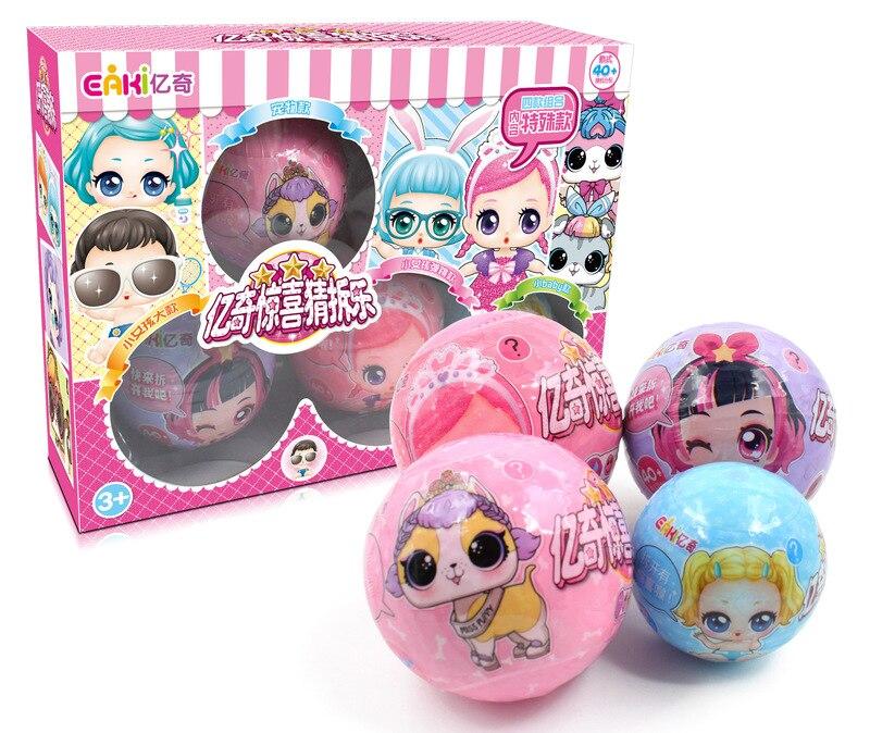 LOL poupée Playmate Eaki véritable bricolage enfants espace Capsule jouet poupées Surprise jouets pour enfants anniversaire nouvel an filles cadeaux