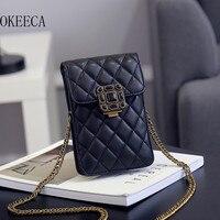 Okeeca高級ファッション小さなボックス電話バッグ用iphone xiaomi huaweiユニバーサル女