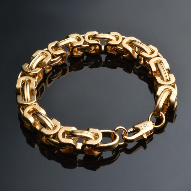 Chain Bracelet Womens: Hip Hop Men Bracelet Gold Color Iced Out Bracelet Chain