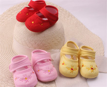 Amazing 0-12 Month Baby Boy Girls Crib Shoes Infant Crib Cotton Fall and Winter Baby Shoes Soft Sole Free Shipping (s3-4)