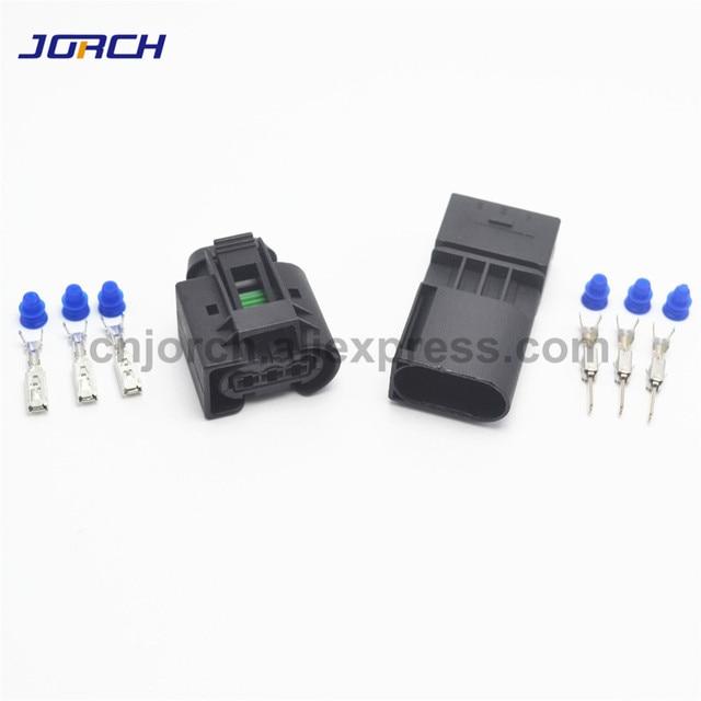 5 takım 3 pin Enjektör ABS Sensörü elektrik teli Konnektör Dişi Ve Erkek soket 09 4413 11/22140492050 Benz Için BMW Kostal