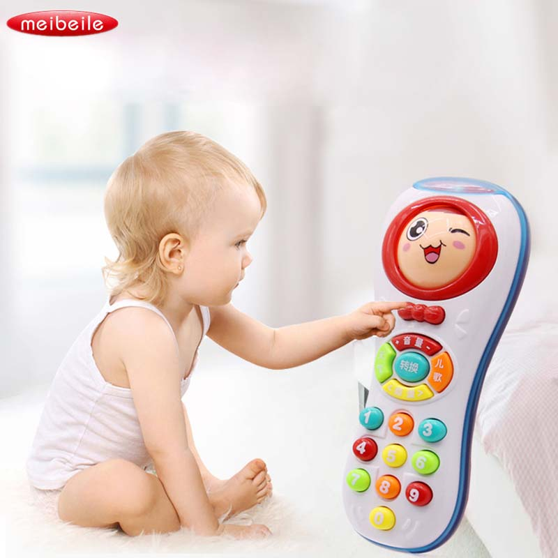 Baby Toys Changing Face Cellular Music Mobile Phone Early Educational Toys Electric Count Remote Learning Machine Toy Gifts
