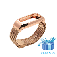 Pulseira de metal para mi banda 2 pulseiras de aço inoxidável pulseira para xiao mi mi banda 2 acessórios para mi banda 2 pulseira de ouro rosa|for mi band|for xiaomi mi band|band for mi band -