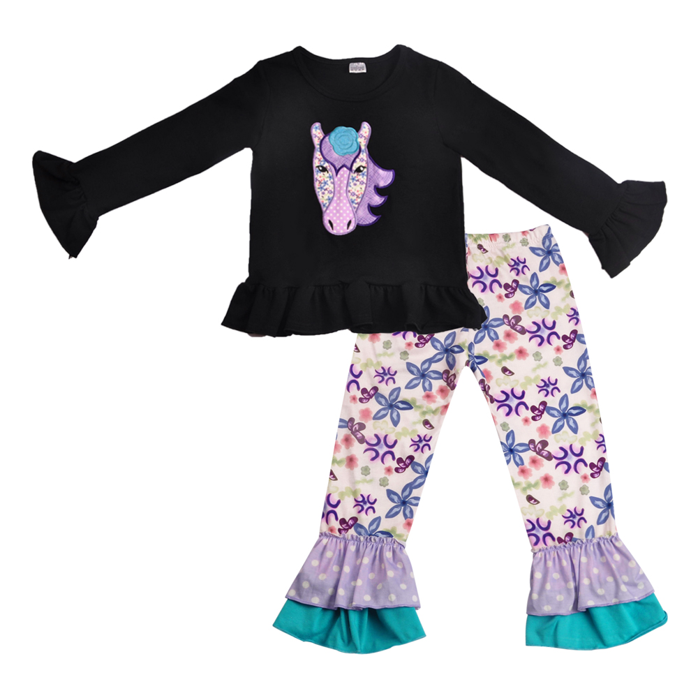 Clothing-Sets Ruffle-Pants Top Kids Girls Children And with Romper 2GK809-678 Outfits