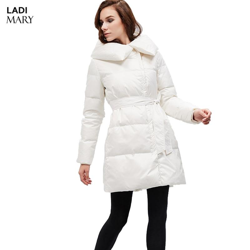 LADIMARY Women Down Coat Winter Thick Long Soild Down Jackets Hooded Fur Warm Windbreaker Male Fashion Parka Y15084