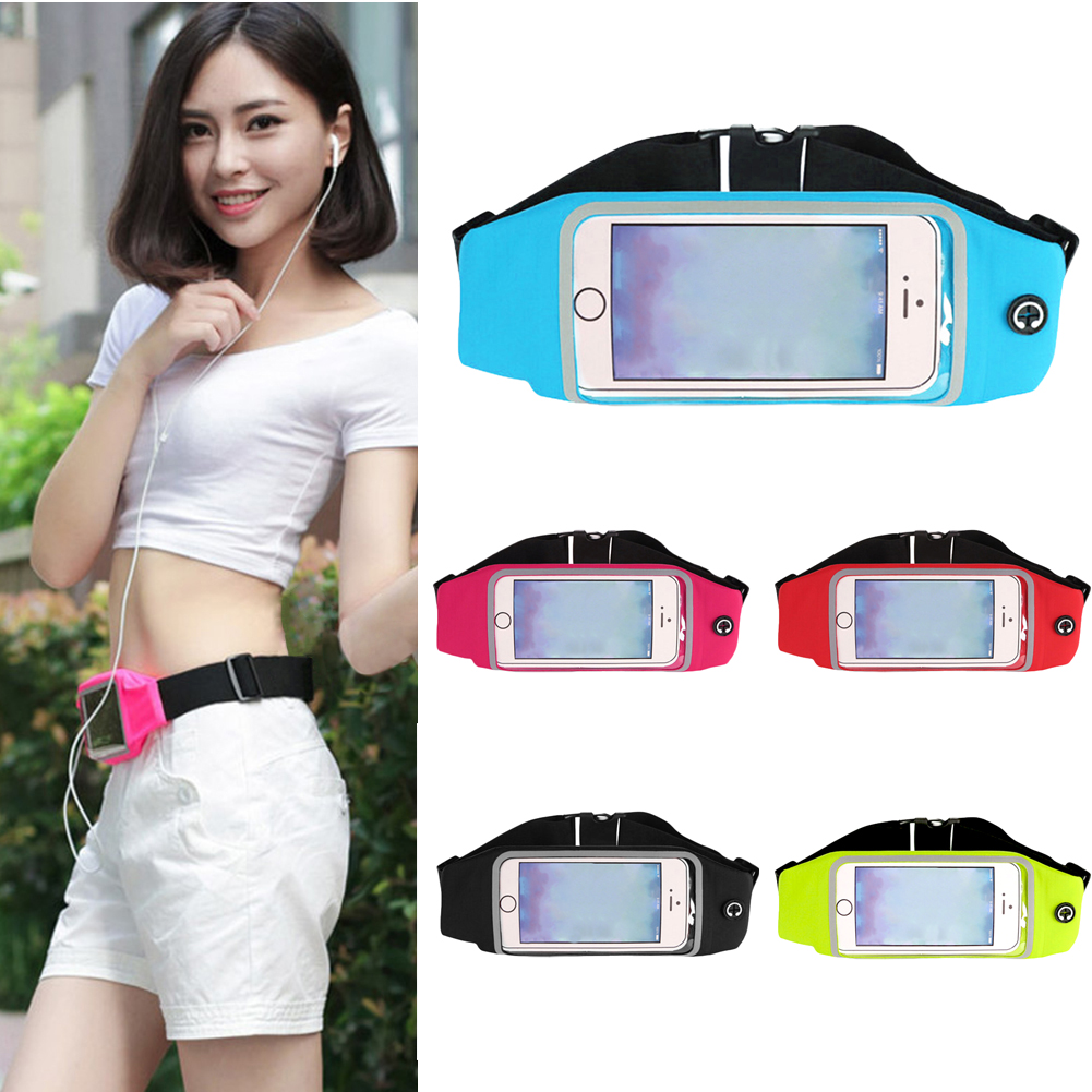 Sport Waist Bag Women Men Fanny Pack Screen  Waterproof Running Belt Pouch Mobile Phone Holder For Phone 4 5.3 5.5 6