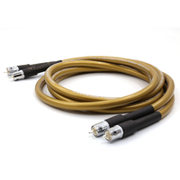 Free shipping Pair Moonsaudio Hexlink golden 5 C audio RCA cable with Silver plated RCA Jack connector