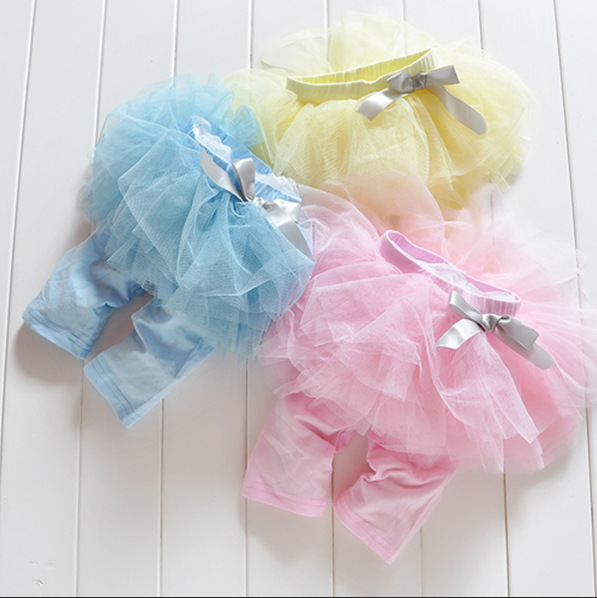 Promation Girl Kids Princess Culottes Leggings Gauze Pants Party Skirts Bow Tutu Skirts