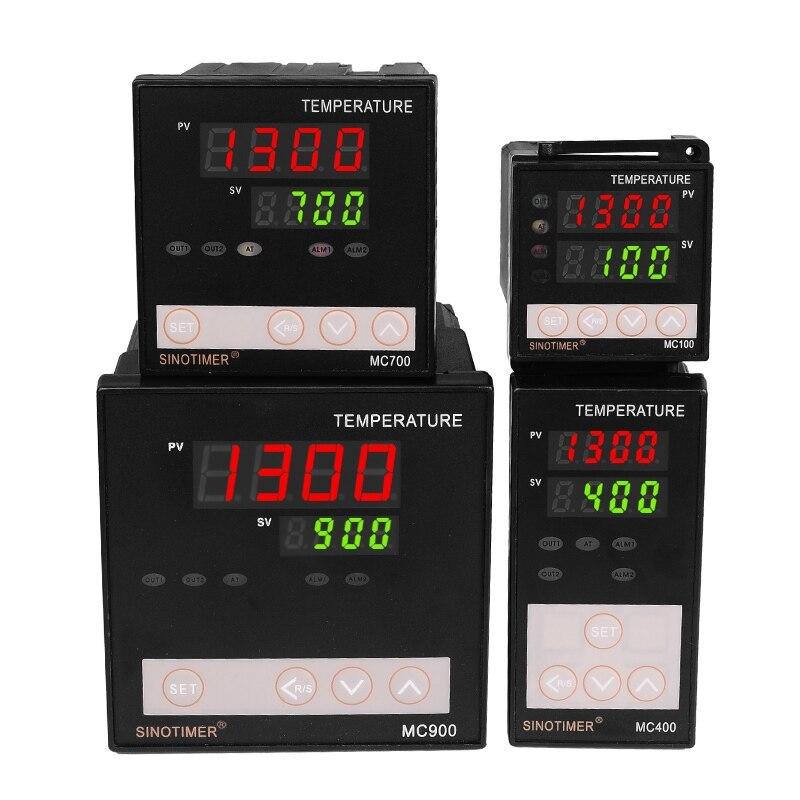 K Thermoelement PT100 Universaleingang Digital-pid-temperaturregler Regler Relaisausgang für Heizung oder Kühlung mit Alarm
