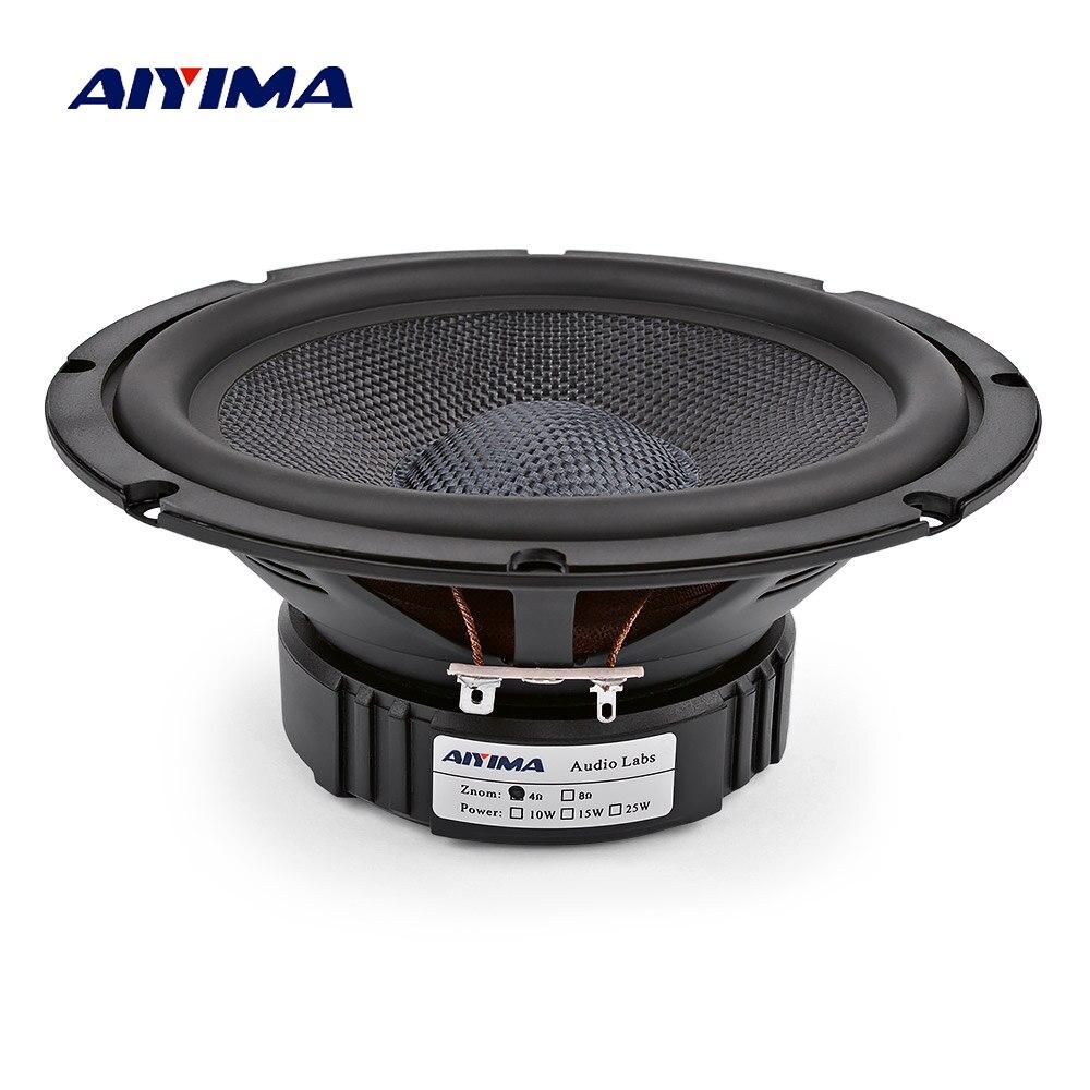 Aiyima 1 pc 6.5 Polegada alto falantes graves midrange 4 8 ohm 40 w woofer de fibra vidro alta fidelidade áudio altifalante diy para casa teatro estante