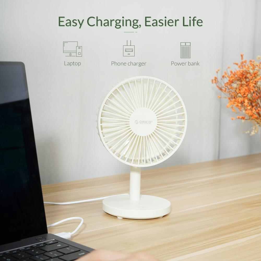 ORICO Desktop Mini USB Fan USB 3 Level Air Cooling mini Fan for Home/Office Student Dormitory USB Gadget