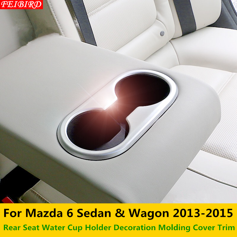 For Nissan Qashqai J11 2014 2015 2016 Interior Rear Seat Water Cup Holder Covers