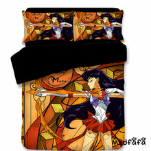 Mxdfafa Anime Sailor Moon Bed Sack Set 3D Bedding Bag Luxury Duvet Cover 3pc Include 1 and 2 Pillowcase