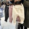 Niños niñas Pantalones de invierno cálido KAMIMI Niños suaves de lana legging bebé Pantalones de algodón Polainas gruesas de invierno para el bebé 1-4 años A901