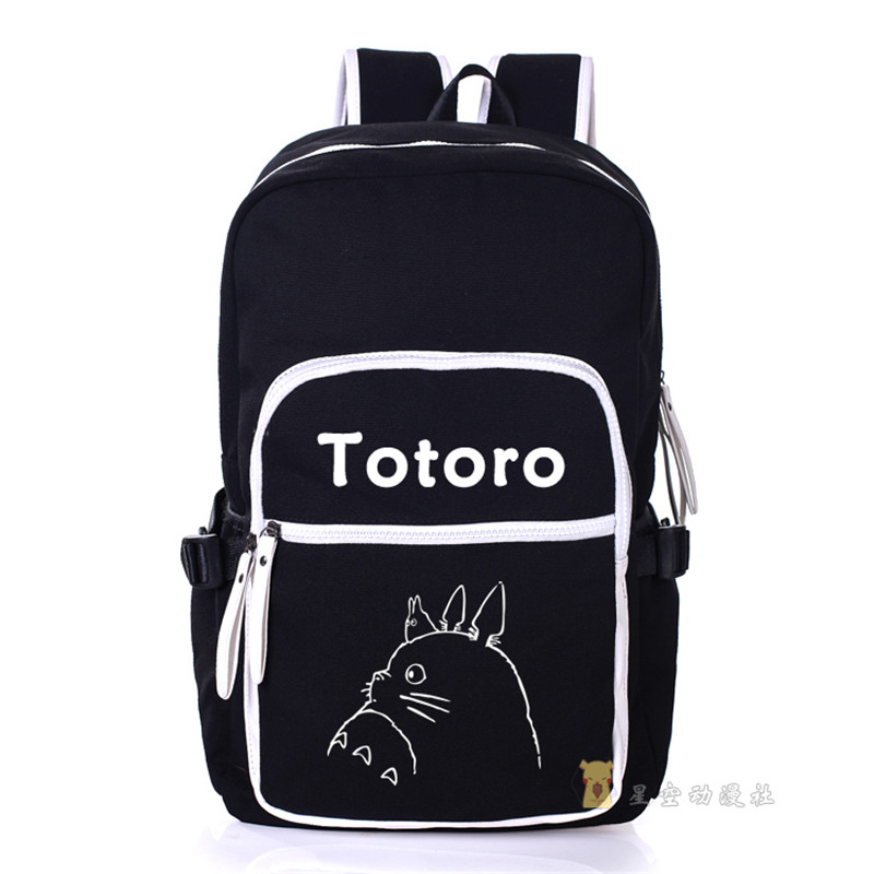 My Neighbor Totoro Canvas Shoulders Bag Students School Backpack Cartoon Unisex Travel Laptop Bags pokemon pikachu haunter eevee bulbasaur canvas backpack students shoulders bag pocket monster haunter schoolbags laptop bags