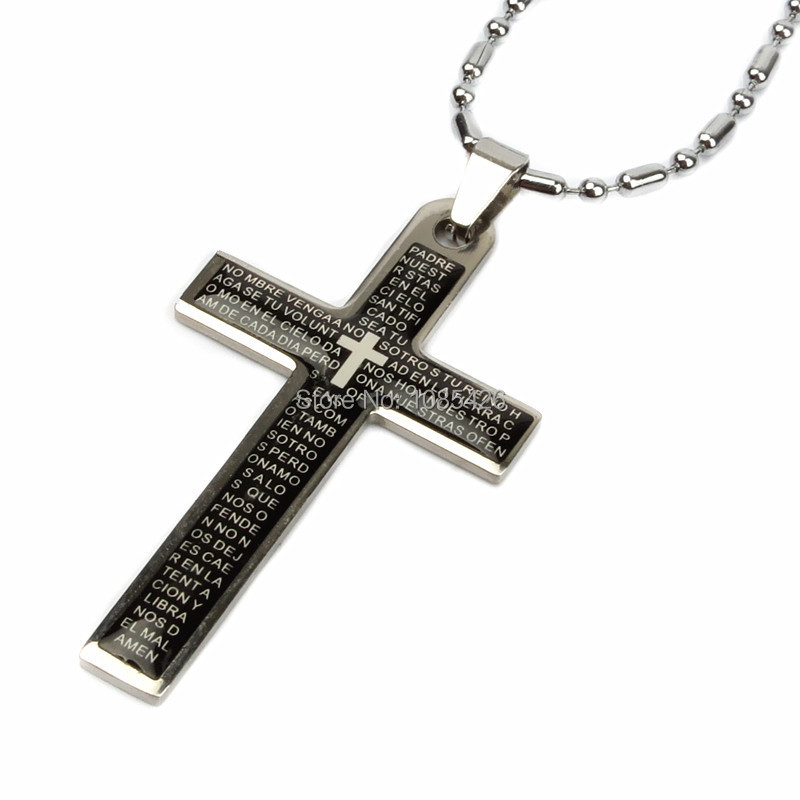 Men for jewelry bible Jesus cross pendant necklace ...