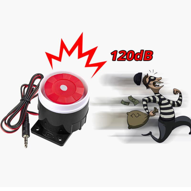 1Pcs Super Loud 120dB Sound Alarm System Compact DC 12V Indoor Siren Durable Wired Mini Horn Siren For Home Security Wholesale 120db loud security alarm siren horn speaker buzzer black red dc 6 16v page 1