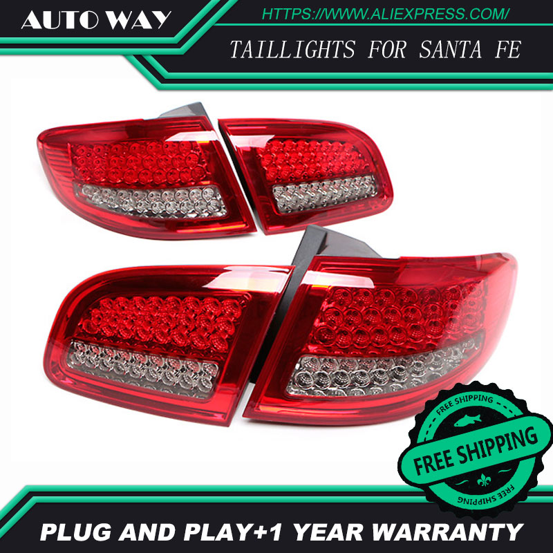 Free shipping Tail light LED rear lights parking taillights LED taillight case for Hyundai Santa Fe SantaFe 2010-2012Car styling